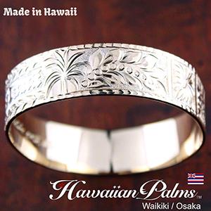 15mm幅 ハーラウの特別デザイン ハワイアンジュエリー バングル