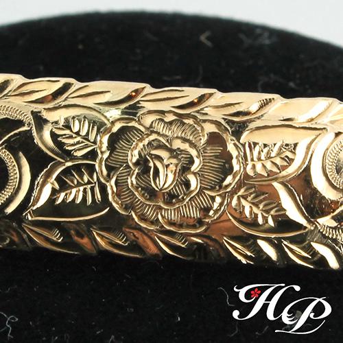 マウイ島のお花「ロケラニ(バラ)」ハワイアンジュエリーペアリング・プロポーズ・婚約指輪・結婚指輪・ベビーリング